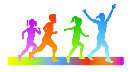 Kinder beim Laufen - 1