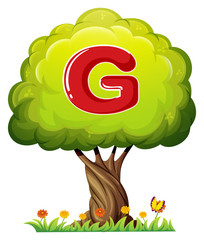 A tree with a letter G