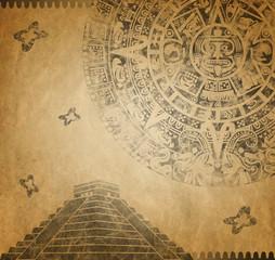 Mayan Calendar and pyramid