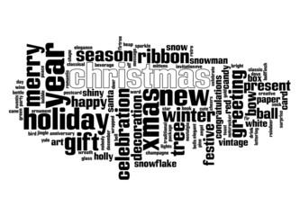 Christmas text cloud