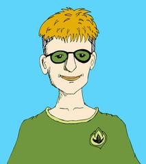 Man  character design  vector illustration