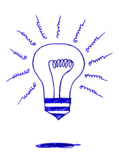 Concept of idea inspired bulb shape