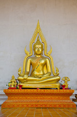 gold image of buddha in thailand