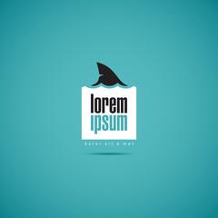 Shark of business. Company logo template