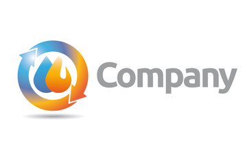 Plumbing and Heating Company Logo