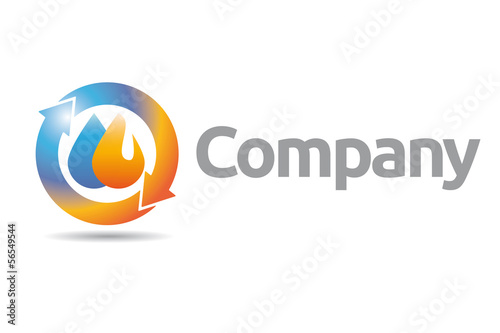 """""""Plumbing and Heating Company Logo"""" Imágenes de archivo y ..."""