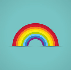 vector symbol of rainbow arc