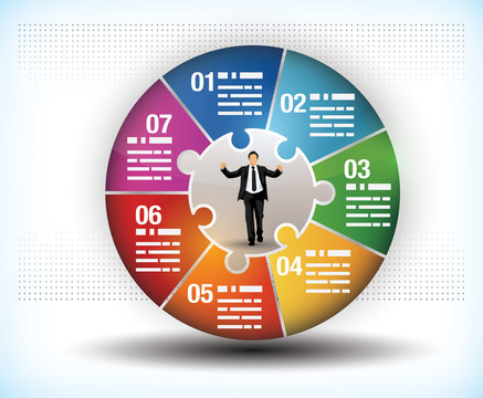 Colourful business wheel chart