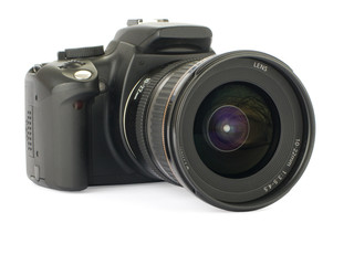 Digital slr isolated on a white background