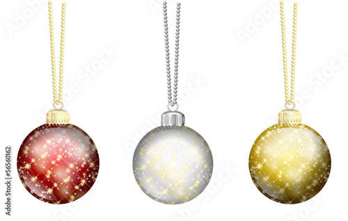 weihnachtskugeln set rot silber gold stockfotos und. Black Bedroom Furniture Sets. Home Design Ideas