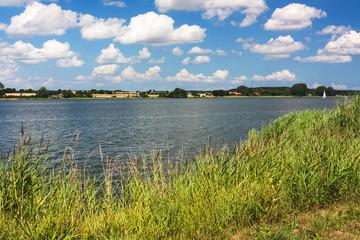 Fototapete - Ufer der Schlei bei Sieseby in Schleswig-Holstein