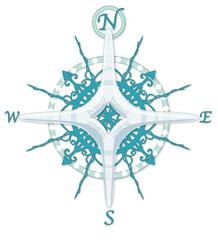 Frozen Compass Rose
