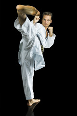 Professional karate fighter