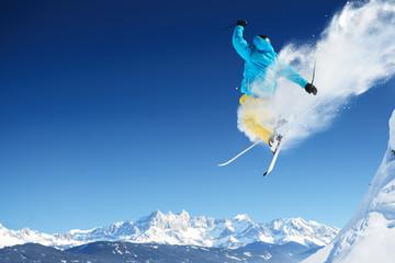 Garden Poster Winter sports Jumping skier