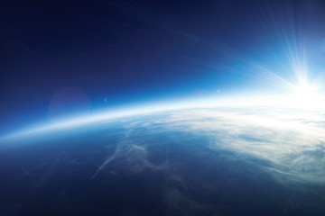 Fototapete - Near Space photography - 20km above ground / real photo