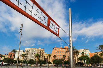 net for beach volleyball