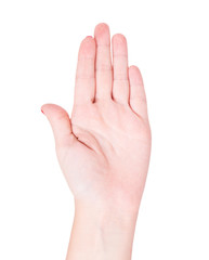 Female hand stop