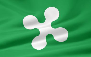 Flagge der Lombardei - Italien