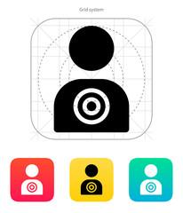 Human target icon.