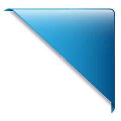 Blue RIBBON (band website button icon label corner)