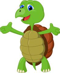 Cute turtle presenting