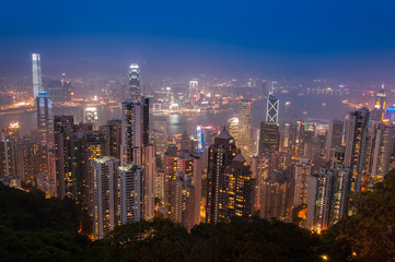 Cityscape from The Peak @ Hong Kong