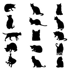 Cat silhouette - Vector illustration