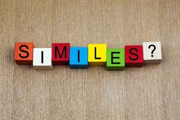 Similes - education  sign