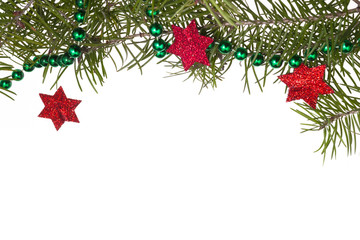 Christmas decorations background star stars green spruce twig