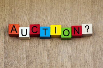 Auction - business sign
