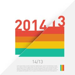 2014 colorful graphic design - diagonal background