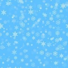 Seamless snow pattern