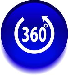 Векторная  иконка с надписью 360 градусов