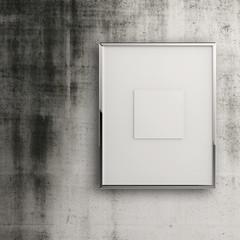 empty modern style frame on grunge wall