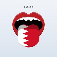 Bahrain language. Human tongue.