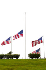 American Flags at Half Mast