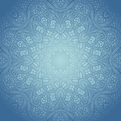 Vector ornamental round lace