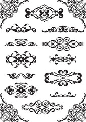 Ornate classical elements setOrnate classical elements set