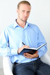 Portrait of successful psychologist or businessman
