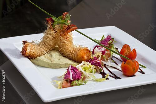 Gambas cuisine gastronomie plat restaurant repas - Meilleure marque de four ...