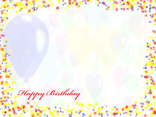 Holiday's background with balloons