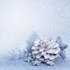 Weihnachtsdeko in blau