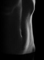 sweaty women body, naked Women's press, ABS