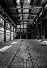 Wall Mural - Industrial interior of an old factory