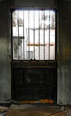 Industrial door of a factory