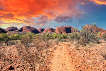 Beautiful colors and landscape of Australian Outback