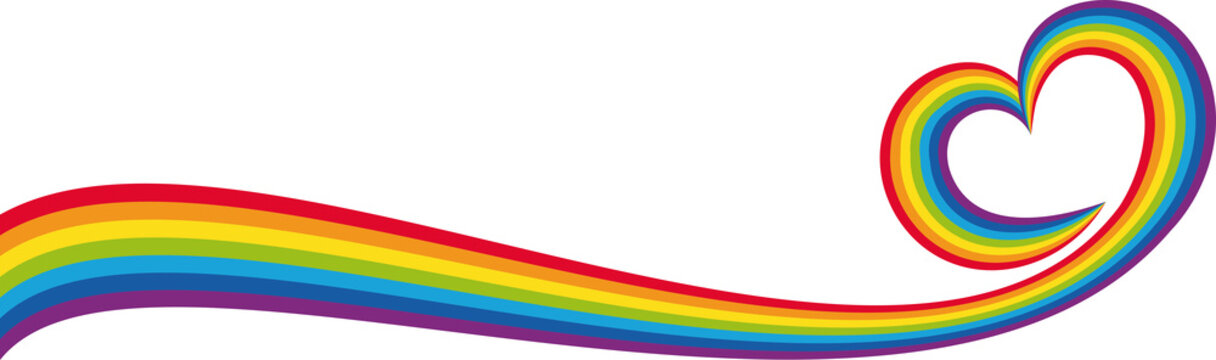 Banner cuore arcobaleno