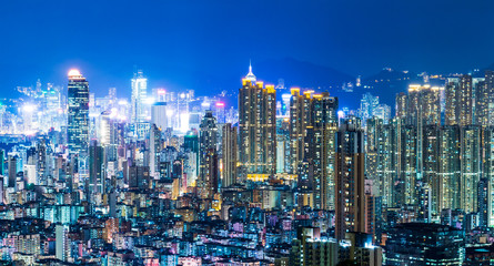 Urban cityscape in Hong Kong