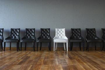 Conceptual Leadership Picture (Chairs In Classic Interior)