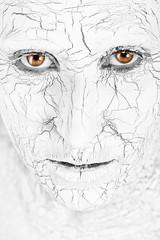 Foto op Canvas Hand getrokken schets van dieren Woman with cracked skin